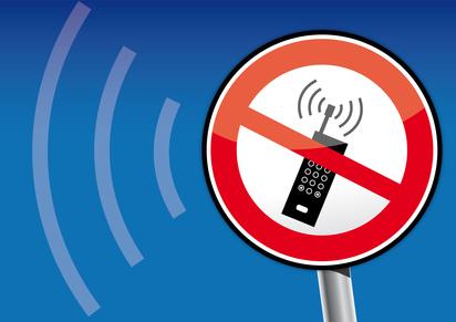 unHandystrahlung, Handy-Verbot, Mobilfkmast, Schild